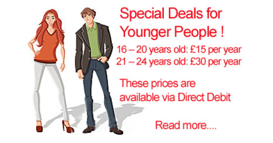 2016 Young Person Membership Deals