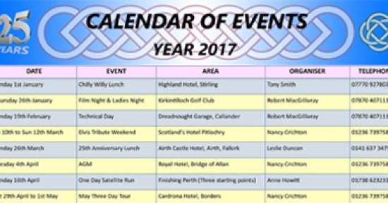 2017 Events Calendar